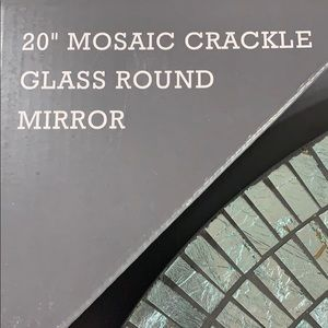 """Wall Art - 20"""" glass mosaic round mirror. Absolutely gorgeous"""
